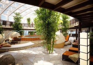 Der Spa Bereich lädt die Gäste zum entspannen ein. Foto: AIDA Cruises