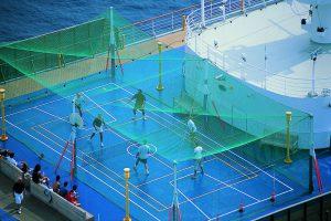 Der Sportplatz auf Deck der Costa Atlantica. Foto: Costa Crociere