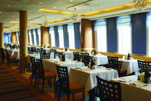 Das Tivoli Restaurant hat eine tolle Aussicht. Foto: Costa Crociere