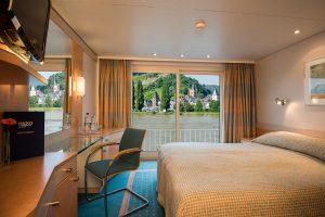 Eine 2-Bett Kabine wie sie auf dem Mittel und Oberdeck zu finden ist. Foto: Nicko-Cruises