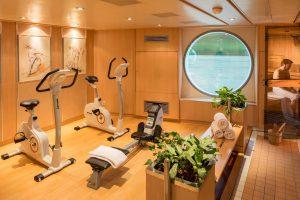 Der Fitness und Wellnessbereich an Bord der MS Bolero. Foto: Nicko-Cruises