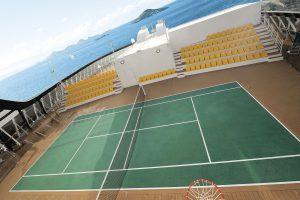 Der Sportplatz auf dem Aussendeck. Foto: MSC Crociere