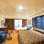 Eine De Luxe Suite mit Balkon. Foto: MSC Crociere