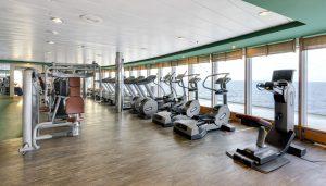 Fitness mit Blick auf das weite Meer. Foto: MSC Crociere