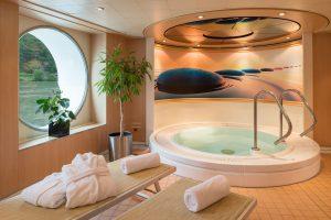 Der Wellnessbereich bietet Entspannung pur. Foto: Nicko-Cruises